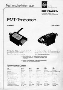 EMT Tondose - T-Serie, OF-Serie