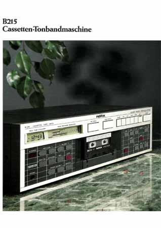 ReVox B215 - Verkaufsprospekt
