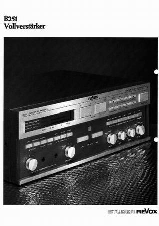 ReVox B251 Verstärker