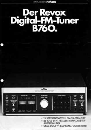 ReVox B760 Digital-FM-Tuner