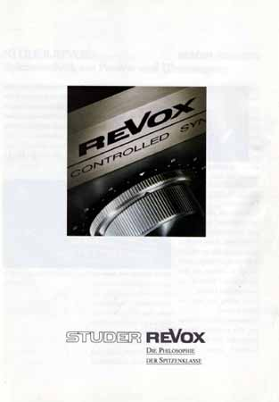 ReVox 1983 - Gesamtprospekt