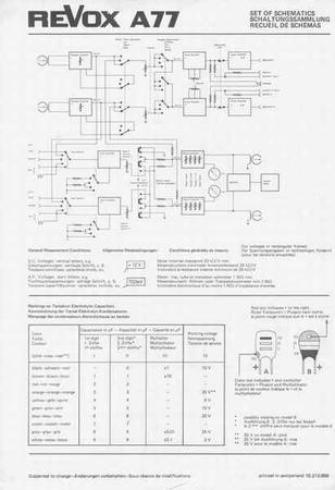 ReVox A77 - Schaltungssammlung (DE/EN/FR)