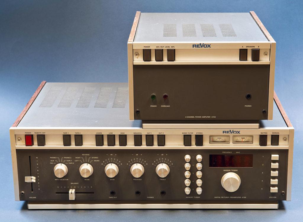ReVox A720 und A722 - Frontansicht