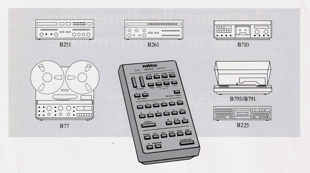 ReVox B201 - Fernsteuermöglichkeiten
