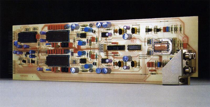 ReVox B225: Die gesamte Elektronik des B225 ist mit wenigen Printkarten mit hoher Packungsdichte aufgebaut.