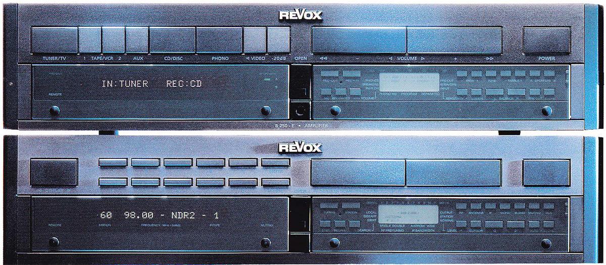 ReVox E-Serie - bestehend aus (von unten nach oben) B250-E und B260-E