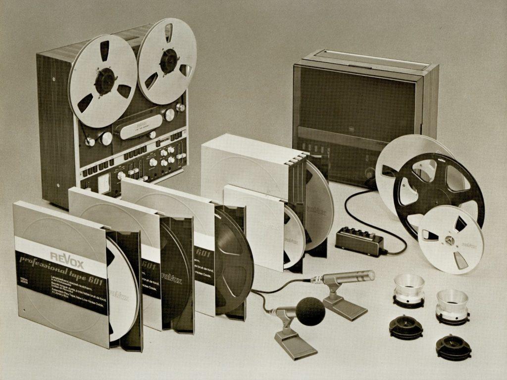 ReVox Zubehör im Jahr 1974.