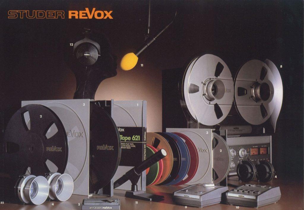 ReVox Zubehör im Jahr 1980.