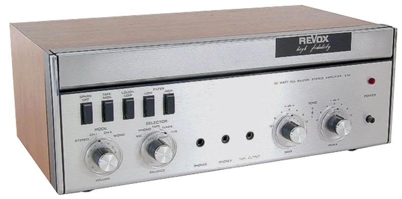 ReVox A50 - der erste transistorisierte Stereo-Verstärker von ReVox. (Foto: www.gawo23.de)