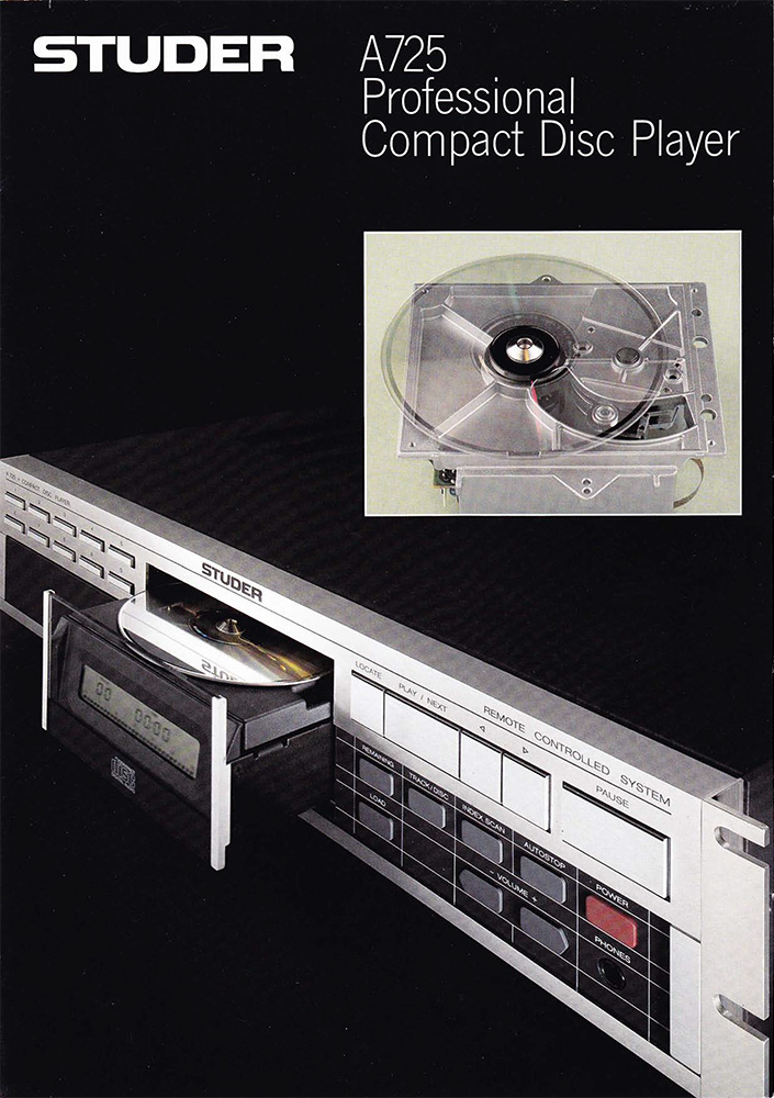 STUDER A725 - Professional Compact Disc Player