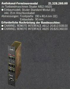 Audiokanal Fernsteuermodul