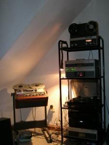 Meine damalige Anlage bestehend aus ReVox-Geräten und der STUDER A807.