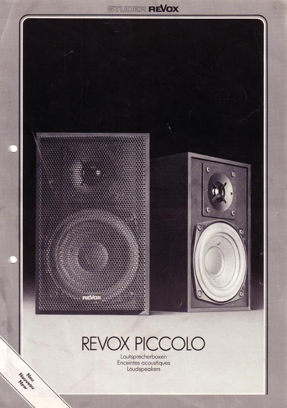 ReVox Piccolo Prospekt