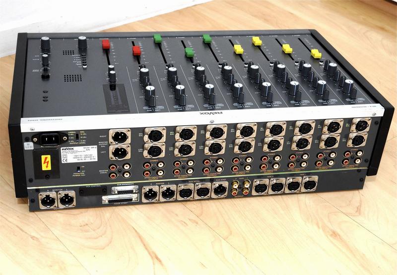 ReVox MR8 - Anschlussmöglichkeiten an der Geräterückseite