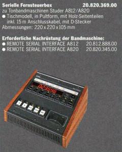 Serielle Fernsteuerbox
