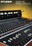 STUDER 900 Series Mixing Consoles - Verkaufsprospekt