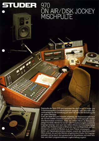STUDER 970 - On Air Disc Jockey Mischpulte - Verkaufsprospekt