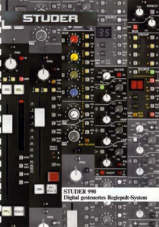 STUDER 990 - Digital gesteuertes Regiepultsystem