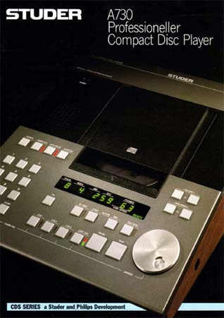 STUDER A730 - Professioneller Compact Disc Player