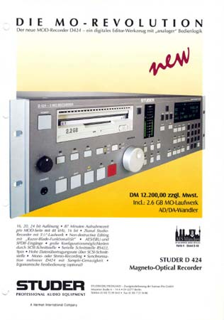 STUDER D424 - MO-Recorder
