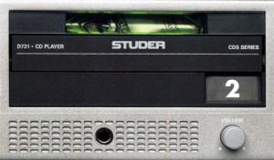 Die CD-Schublade des STUDER D731.