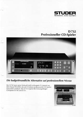 STUDER D732 - Professioneller CD Spieler