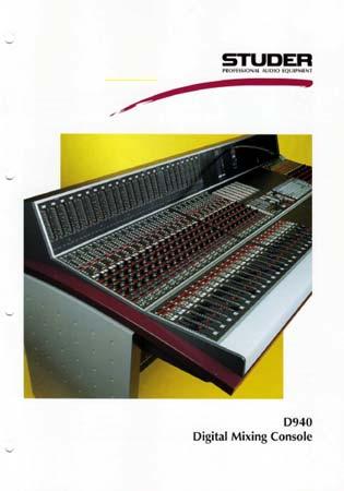 STUDER D940 - Digital Mixing Console