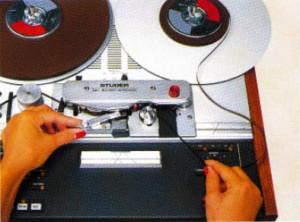Tonband markieren mit der STUDER A807. Die Maschine ist nahezu perfekt dafür geeignet.