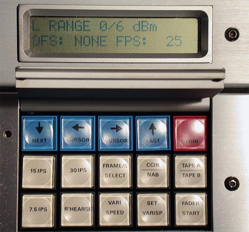 Keyboard zur Steuerung sämtlicher Funktionen der STUDER A820.